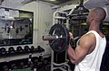 US Navy 021101-N-5152P-003 Sailor trains aboard USS Kitty Hawk.jpg
