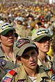 US Navy 050726-N-9769P-008 Boy Scouts stand in the heat along with 40,000 other Scouts hoping to hear the President of the United Stated speak at their opening ceremony as part of the National Scout Jamboree held at Fort A.P. H.jpg