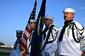 US Navy 051001-N-7163S-001 A U.S. Navy honor guard assigned to Navy ^ Marine Corps Reserve Center Minneapolis, presents colors prior to Elko Speedway's Military Appreciation Night.jpg