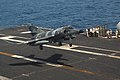 US Navy 070412-N-7498L-018 A French Super-Etendard from the nuclear-powered aircraft carrier French Navy Ship Charles de Gaulle (R 91) performs a touch-and-go landing on the flight deck of the Nimitz-class aircraft carrier USS.jpg