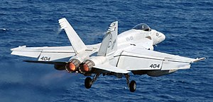 VFA-105 - Image: US Navy 071203 N 1688B 148 An F A 18 Hornet assigned to the