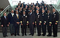 US Navy 090221-N-9268E-014 Members of the Navy's Centennial Seven, a term used to denote the only African-American officers to command submarines in the 20th Century, pose with U.S. Naval Academy midshipmen.jpg