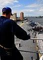 US Navy 100813-N-7508R-044 Capt. Steven Koehler, commanding officer of the multi-purpose amphibious assault ship USS Bataan (LHD 5),.jpg