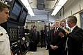 US Navy 110829-N-ZZ999-020 Secretary of the Navy (SECNAV) Ray Mabus tours a biofuels testing facility at the Naval Postgraduate School.jpg