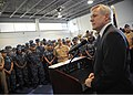 US Navy 110910-N-ZZ999-001 Secretary of the Navy (SECNAV) the Honorable Ray Mabus addresses reserve component Sailors at the Navy Operational Suppo.jpg