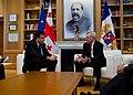 US Navy 111119-N-AC887-005 Secretary of the Navy (SECNAV) the Honorable Ray Mabus meets with Georgian President Mikheil Saakashvili in Tbilisi, Geo.jpg