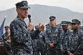 US Navy 111125-N-MO201-054 Vice Chief of Naval Operations (VCNO) Adm. Mark Ferguson addresses sailors aboard the guided-missile frigate USS Samuel.jpg