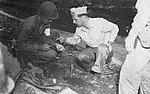 US Navy officer conducting radiation tests in Nagasaki, Japan, in September 1945.jpg