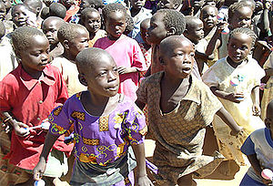 Acholi people - Acholi children in an IDP camp in Kitgum, Uganda, 2005