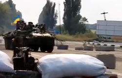 Ukrainian army checkpoint in Donbass.jpg