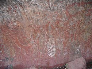 Uluṟu-Kata Tjuṯa National Park - Aboriginal rock art at Uluru