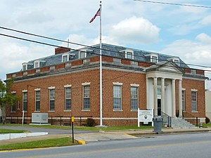 United States Post Office (Albertville, Alabama) - The old post office building currently serves as the Albertville Board of Education building.