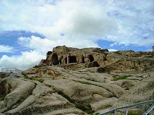 Uplistsikhe - The cave cluster in Uplistsikhe's central part