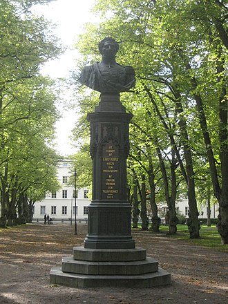Bengt Erland Fogelberg - Bust of Karl XIV Johan, in Uppsala