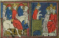 Urban II, 12th century, from Roman de Godfroi de Bouillon