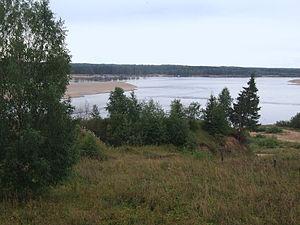 Lensky District, Arkhangelsk Oblast - The Vychegda River in the work settlement of Urdoma