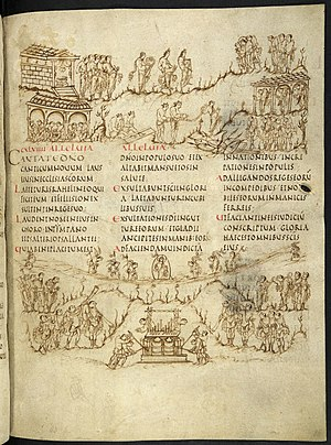 Utrecht Psalter - Another page