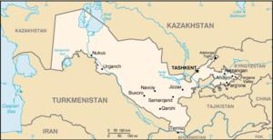 List Of Cities In Uzbekistan Wikipedia - Uzbekistan map