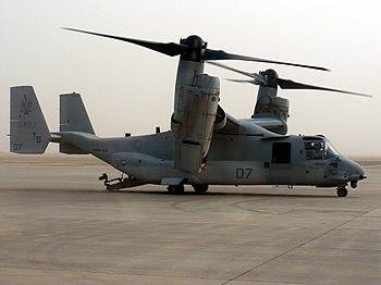 English: VMM-162 MV-22 Osprey on the tarmac in...