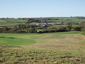 Vale of Glamorgan - Looking across the Vale of Glamorgan on Brynhill Golf Course, outskirts of Barry