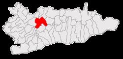 Vị trí của Valea Argovei