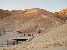 La vallée des rois, entrée de la tombe de Toutânkhamon