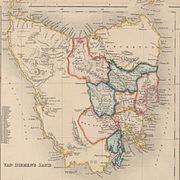 1852 map of Van Dieman's Land