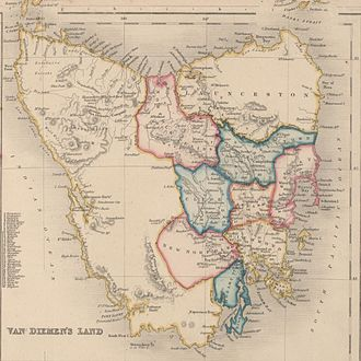 Political history of the world - Van Diemen's Land in 1852
