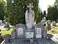 Varga family grave, angel with wreath in Árpád Street's cemetery, Hévíz, 2016 Hungary.jpg