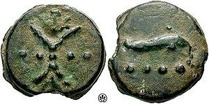 Triens - Rome. Circa 241-235 BC. Æ Aes grave Triens (107.00 g)