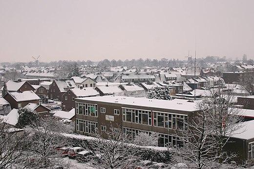Veenendaal, stadszicht vanaf het Prins Willem Alexander park