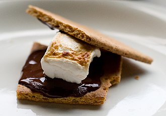 Graham cracker - Image: Vegetarian s'mores (3680344160)