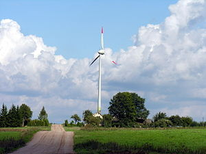 Renewable energy in Lithuania - Wind turbine in Lithuania