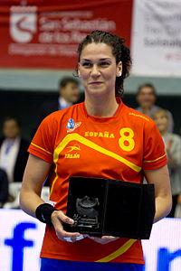 Verónica Cuadrado - Jornada de las Estrellas de Balonmano 2013 - 02.jpg