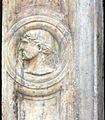 Via canneto il lungo 67r, portale con teste di imperatori e rilievo di s, giorgio e il drago, xvi secolo 04.jpg