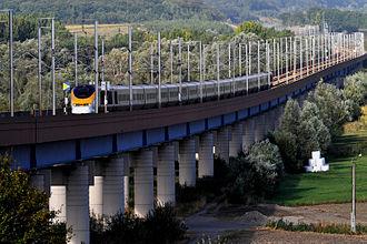 LGV Nord - Eurostar north of Watten.