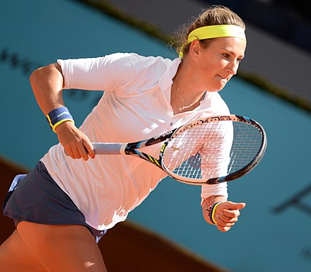 Victoria Azarenka, professional tennis player and a former world No. 1 in singles Victoria Azarenka (18567208246).jpg