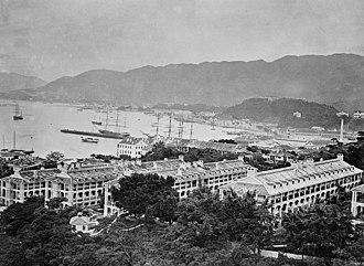 Victoria Barracks, Hong Kong - Victoria Barracks, c 1870