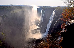 Victoria Falls - First Gorge, from Zambian side