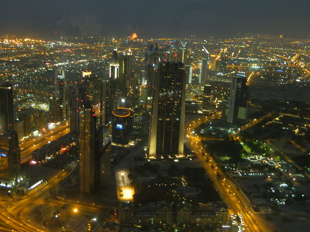 File:View From 128th Floor Of Burj Khalifa At The Night