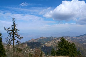 Dhanaulti - Image: View from Dhanaulti, Uttarakhand