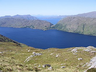 Morar - Loch Morar, and North Morar, with Loch Nevis in the distance, and Knoydart and Skye beyond that