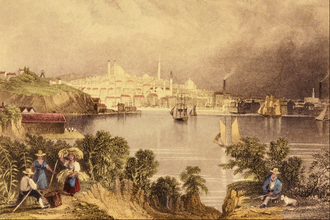 History of Baltimore - View of Baltimore by William Henry Bartlett (1809-1854)