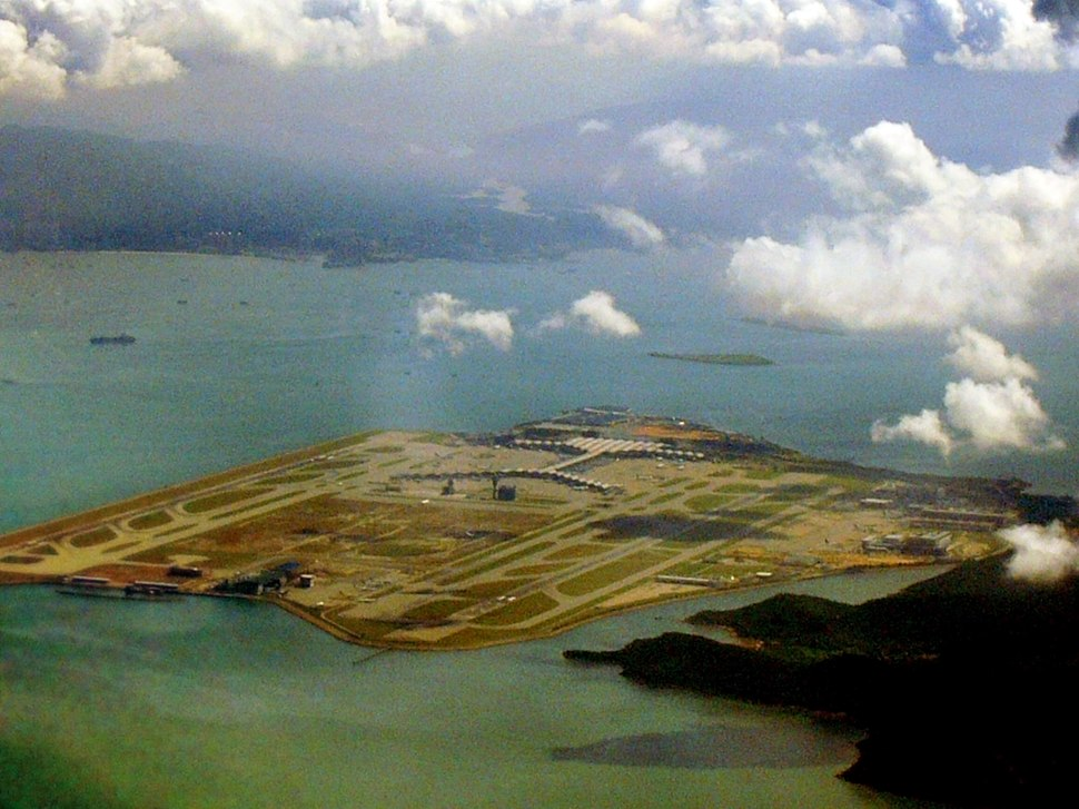 View of HK Airport from air