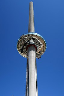 observation tower in Brighton, East Sussex