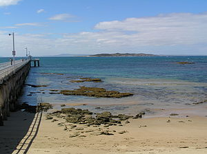 The Rip - View across the Rip from Point Lonsdale towards Point Nepean