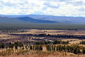 Buryatia - View of the valley of the Uda near the village of Khorinsk