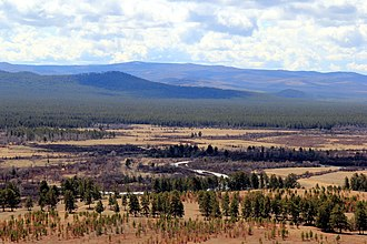 Buryatia - View of the valley of the Uda near the village of Khorinsk.