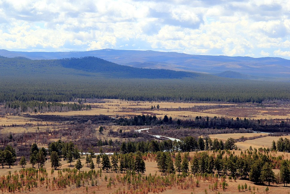 View of the valley of the Uda near the village of Khorinsk