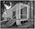 View southwest, front porch detail with steps - 103-105 Chestnut Avenue (House), Waterbury, New Haven County, CT HABS CONN,5-WATB,20-6.tif